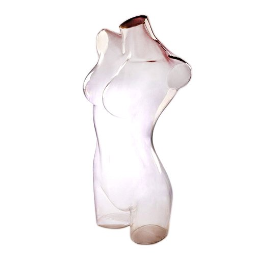 AMKO CLAIRE4 Female Torso – 3/4'' Clear Plastic Female Mannequin for Displaying Swimwear, Lingerie. Dress Forms and Mannequins by AMKO Displays