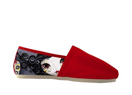 Le Scarpe Casuali Della Tela Delle Donne Con Il Giorno Delle Donne Casuali Shoes03 Del Tema Morto