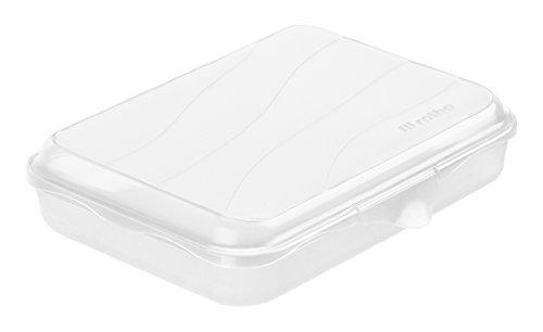Rotho 1710700096 Funbox Vesperdose Brotbox, BPA und schadstofffrei, hergestellt in der Schweiz, circa 19.5 x 14.5 x 4 cm (LxBxH), transparent