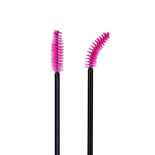 G2PLUS-100-Pack-Disposable-Eyelash-Mascara-Brushes-Wands-Applicator-Makeup-Brush-Kits-Pink