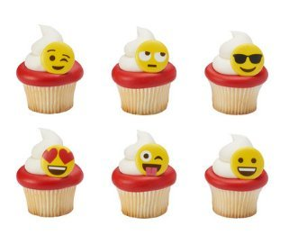 Emotions Decorations 24Pack Cupcake Decoration product image