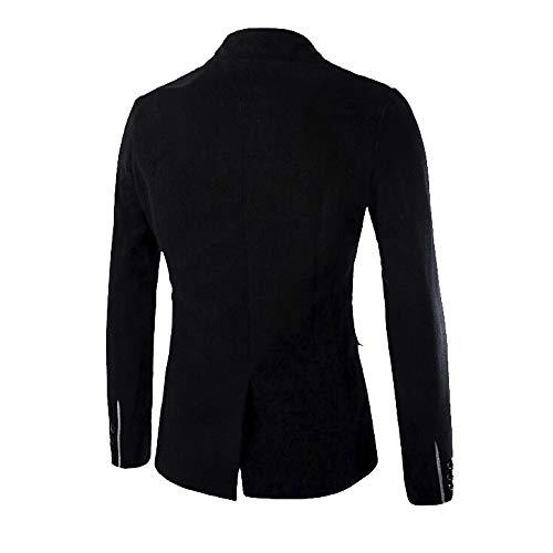 Longue Manteaux De Manteau subfamily Long Trench D'hiver Jacket Costume Homme Slim Hiver Casual Noir Parka Veste Buttons Manche Zw7Iwq