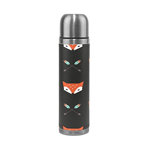ALAZA Fox and Arrows Stainless Steel Water Bottle Leak-Proof