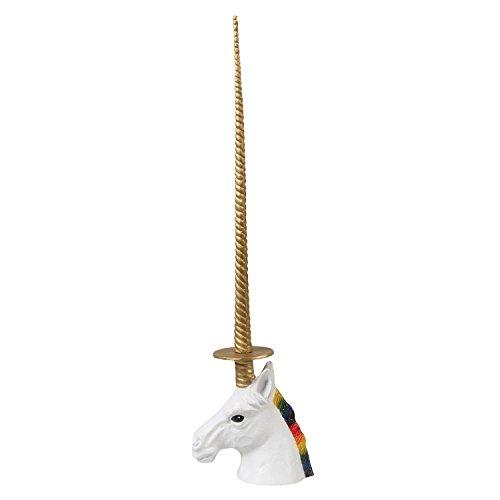(Unicorn Paper Towel or Toilet Paper Holder - Rainbow Mane Golden Horn, 19