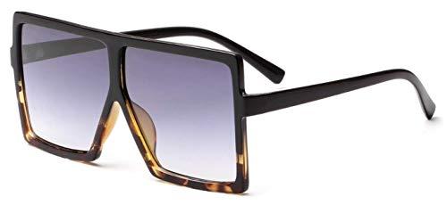 - WebDeals - Square Flat Top Sunglasses Oversize Thick Retro Designer Frame... (Tortoise/Black Square Oversize, Lavender Gradient)