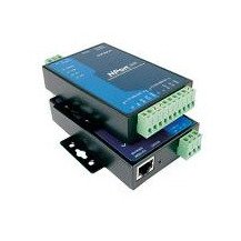 MOXA NPort 5230 w/Adapter 1 Port RS-422/485 Device Server, 1 Port RS-232, 10/100M Ethernet, Terminal Block, 15KV ESD, 12-30VDC by Moxa