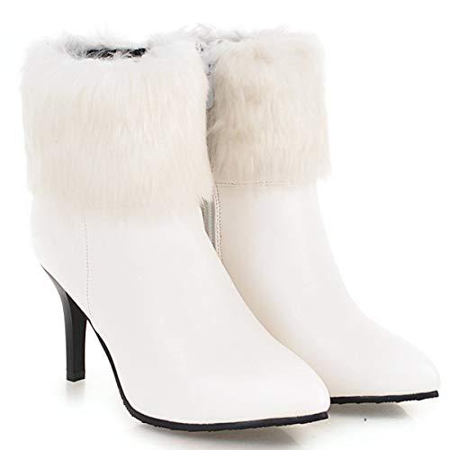 Bottines Coolcept Femmes Blanc Hiver Pointu Mode 11rIq