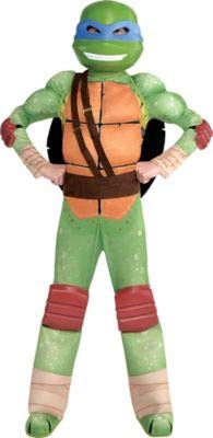 Amscan Teenage Mutant Ninja Turtles Leonardo Muscle Halloween Costume for Boys, Small, with Included Accessories -