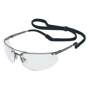 North® by Honeywell Fuse® Wilson® Safety Glasses With Gunmetal Frame, Gray Polycarbonate TSR® Fog-Ban® Anti-Fog Lens And Breakaway Neck Cord