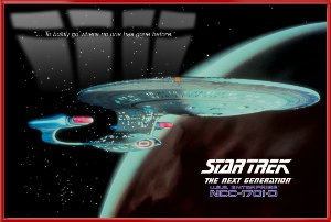 Star Trek - The Next Generation - Framed TV Show Poster / Print (Enterprise NCC-1701-D) (Size: 27