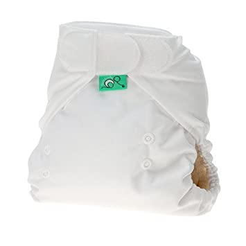 TotsBots PeeNut White Reusable Washable Waterproof Wrap Size 2, 9 to 35lbs, for use with Bamboozle Nappies 5060131211947