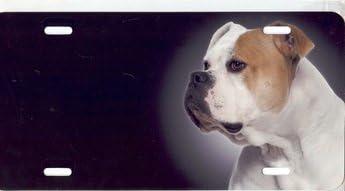 American Bulldog Airbrush License Plate