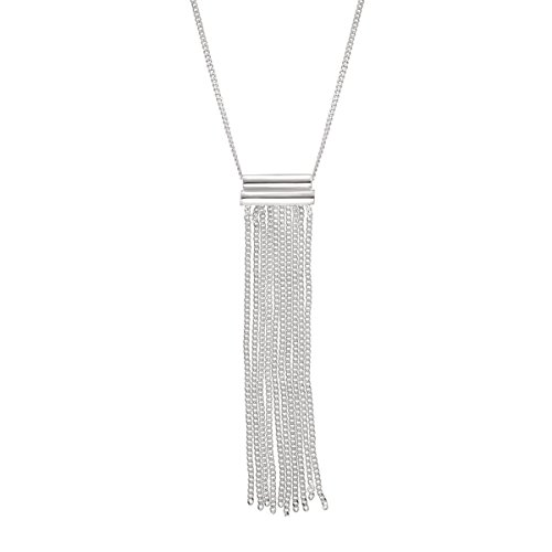 (Silpada 'Modern Fringe' Pendant Necklace in Sterling Silver)