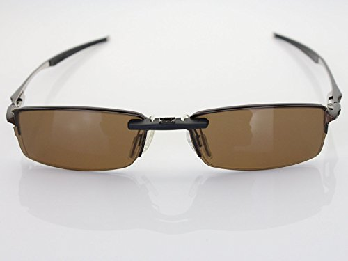 Custom Fit Polarized CLIP-ON Sunglasses For Oakley Halfshock OX3119 55X19 Brown by COODY (Image #3)