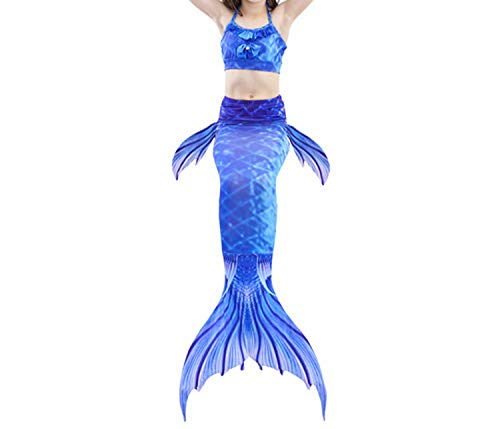3Pcs/Set Mermaid Tail Swimsuit Swimwear Bathing Suit CCostume Bikini Set,Style 8,ЧТ Tail Costume ()