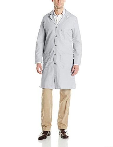 Red Pocket Coat Chest Kap (Red Kap Men's Exterior Pocket Original Lab Coat, Light Grey, 54)