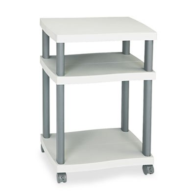Wave Design Printer Stand, Three-Shelf, 20w x 17-1/2d x 29-1/4h, Charcoal Gray, Sold as 1 Each by Generic