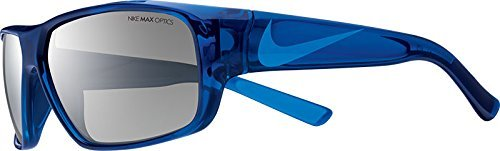 Nike EV0778-404 Mercurial 6.0 Sunglasses (One Size), Midnight Navy/Photo Blue, Grey with Silver Flash ()