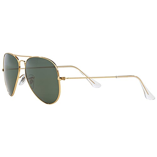 5ad9fefb5d48b Ray Ban RB3025 Aviator Sunglasses-001 58 Gold Gold (Green - Import It All