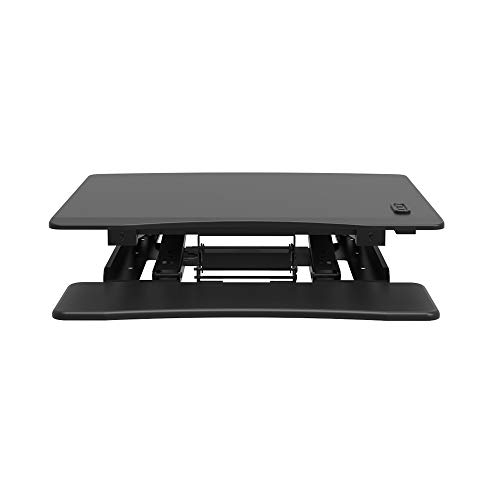 Electric Standing Desk Adjustable Height Sit Stand Up Desk Converter 32in Wide No Lifting Required