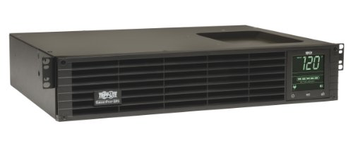Tripp Lite 1000VA Smart UPS Back Up, Sine Wave, 800W Line-Interactive, 2U Rackmount, LCD, USB, DB9, 2 & 3 Year Warranties, $250,000 Insurance (SMART1000RM2U) 1 1 Kilo Volt Ampere 800 Watts UPS Battery Backup Power Supply with AVR, Sine Wave output & interactive LCD monitoring 120 Volt NEMA 5 15P input, 6 NEMA 5 15R outlets 4 switchable via network interface Supports a half load of 400 watts on battery for 15 minutes