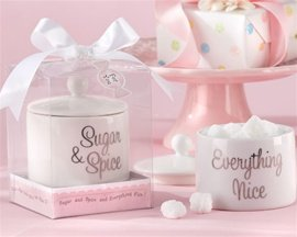 Sugar, Spice and Everything Nice Ceramic Sugar Bowl Favors (48) by Kate Aspen
