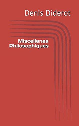 Miscellanea Philosophiques (French Edition) pdf epub