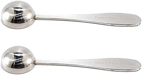 Scoop Polished Stainless Steel Honey Bear Kitchen 5 ml Teaspoon 2 Pack