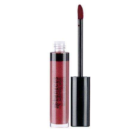 Benecos Natural Moisturizing, Shiny Lip Gloss - Rich Red Gla