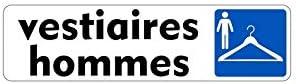 Autocollant Sticker adhesif signalisation Plaque Porte Panneau vestiaire Homme