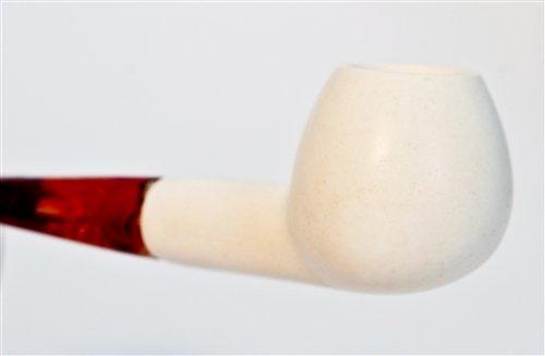 Standard Apple Smooth Straight Meerschaum Pipes ()