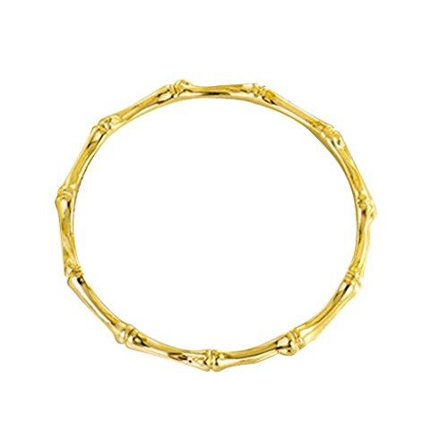 (Bobury Bamboo Shaped Women Girl Slender Bracelet Bangle Silver Plated Fashion Wristband Chain Cuff Jewelry)