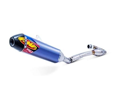 FMF Factory 4.1 Full System with MegaBomb Header - Anodized Muffler, Stainless Steel Midpipe and Endcap ()
