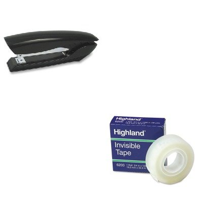 KITBOSB326BLKMMM6200341296 - Value Kit - Stanley Bostitch Antimicrobial Full Strip Stapler (BOSB326BLK) and Highland Invisible Permanent Mending Tape (MMM6200341296)