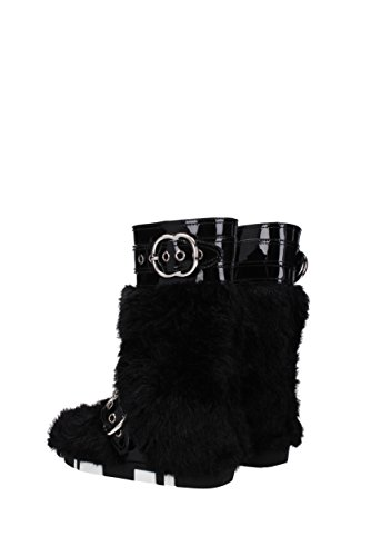 Miu Miu Boots Women - Eco Fur (5U307B) UK Black WEW3y0
