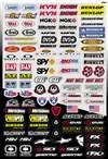 014) Sponsor/Logo Sticker Sheet (Factory Effex Logo Stickers)