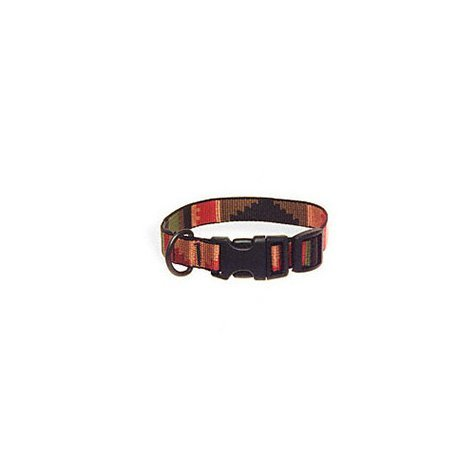Bison Pet Rasta Adjustable Nylon Dog Collar - Small