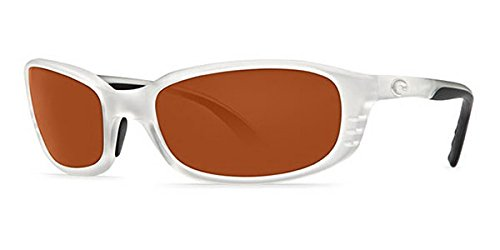 - Costa Del Mar Sunglasses - Brine- Glass / Frame: Matte Crystal Lens: Polarized Copper Glass Wave 580