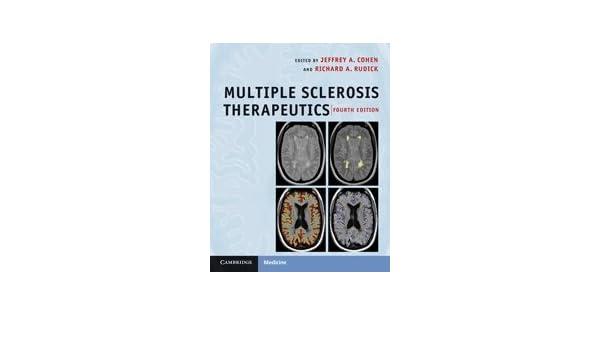 multiple sclerosis therapeutics cohen jeffrey a rudick richard a