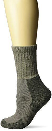 (Thorlos Women's  KX Hiking Thick Padded Crew Sock, Pewter, Medium)