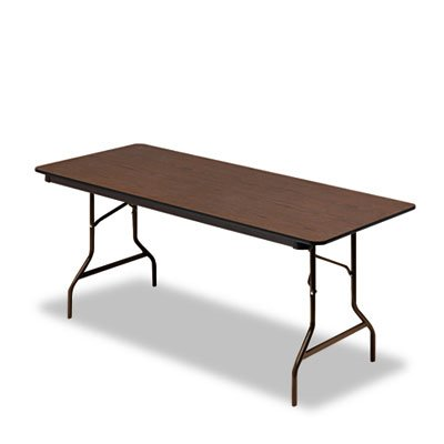 Economy Wood Laminate Folding Table, Rectangular, 72w x 30d, - Table Economy Folding Rectangular