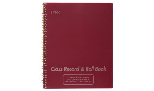 mead teachers class record roll book 8 1 2in x 11in import it all