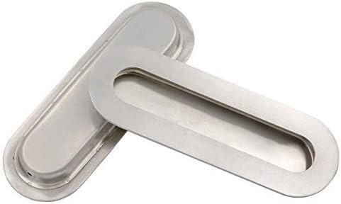 Homdiy MC012BSS - Tirador de puerta corredera (níquel cepillado, tirador de puerta de descarga de acero inoxidable, tiradores de cajón empotrados, tiradores de puerta corredera): Amazon.es: Bricolaje y herramientas