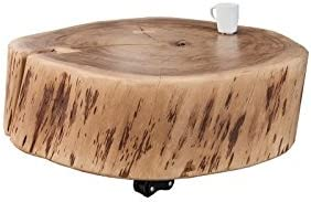 DuNord Design – Mesa de tronco Disco de algodón mesa Acacia 60 cm ...