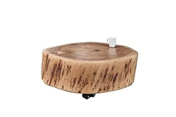 Dunord Design Couchtisch Baumstamm Baumscheibe Tisch Acacia 60cm