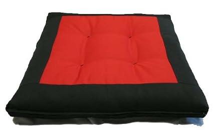 Brand New Central Red Zabuton, Yoga, Meditation Seat Cushions, Kneeling, Sitting, Supporting Exercise Pratice Zabutons.