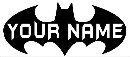 Oval Logo Decal - byyoursidedecal DC Comics Batman Logo Personalized Name Custom Text Vinyl Wall Decal Art Quotes Kids Room Nursery 10