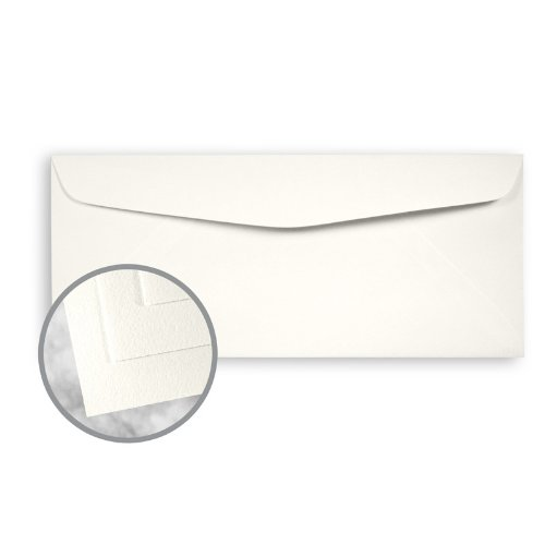 Strathmore Writing Soft White Envelopes - No. 10 Commercial (4 1/8 x 9 1/2) 24 lb Writing Wove 25% Cotton Watermarked 2500 per Carton by Mohawk Fine Papers Strathmore Writing