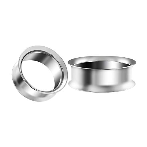 BIG GAUGES Pair of Stainless Steel 1 1/4 inch 32mm Double Flared Saddle Piercing Earring Stretcher Plug Flesh Tunnel Lobe Plugs BG4714 ()
