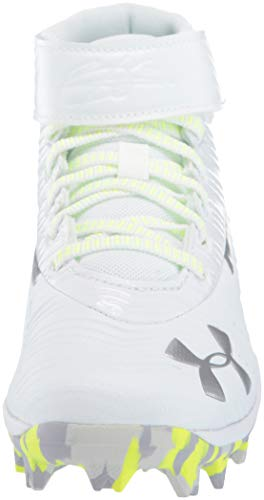 Under Armour Boys' Harper 3 Mid Jr. RM Baseball Shoe, (100)/White, 1.5 by Under Armour (Image #4)